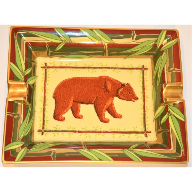 Vintage Hermès Bear and Bamboo Cigar Tray For Sale - Image 12 of 13
