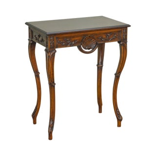 Custom French Louis XV Rococo Style Carved Walnut Console Table