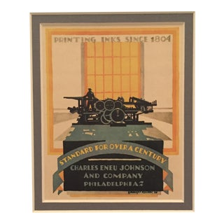 1920s Original Art Deco Advertising Mini Poster, McKnight Kauffer