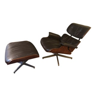 Mid-Century Modern Eames Chair & Ottoman - A Pair For Sale