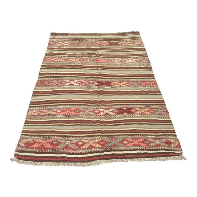 Traditional Anatolian Rug - 4′10″ × 7′ For Sale