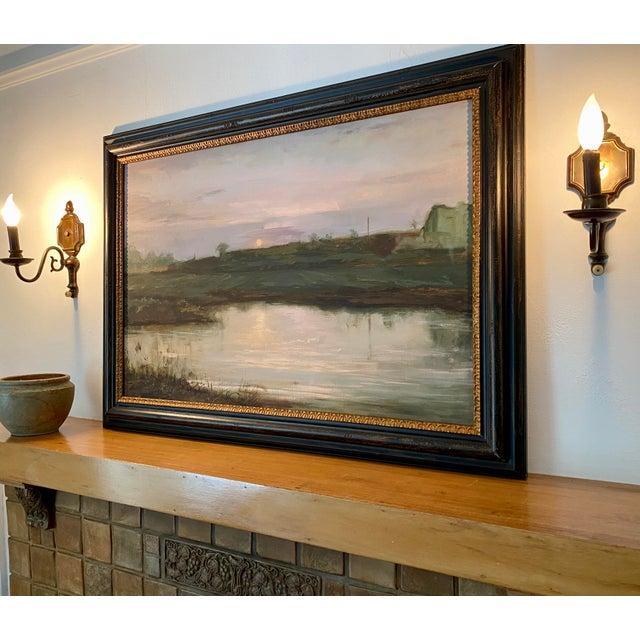 Landscape #2 Harvest Moon Fine Art Giclée Print Framed For Sale - Image 4 of 6