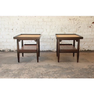 Milo Baughman for Drexel Perspective Cork Top End Tables, Pair Preview
