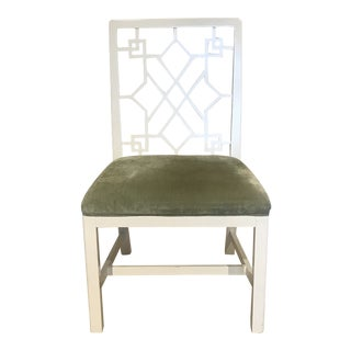 Baker Chinoiserie Side Chair For Sale