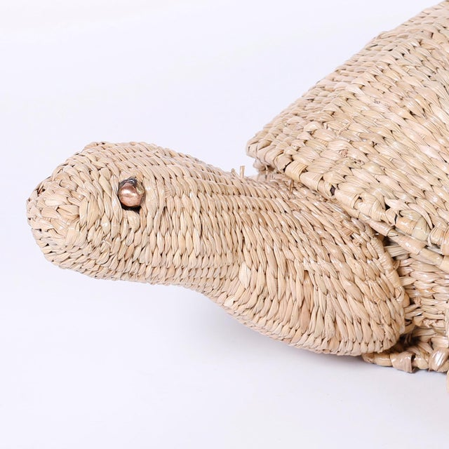 Mario Torres Wicker Turtle For Sale In West Palm - Image 6 of 8