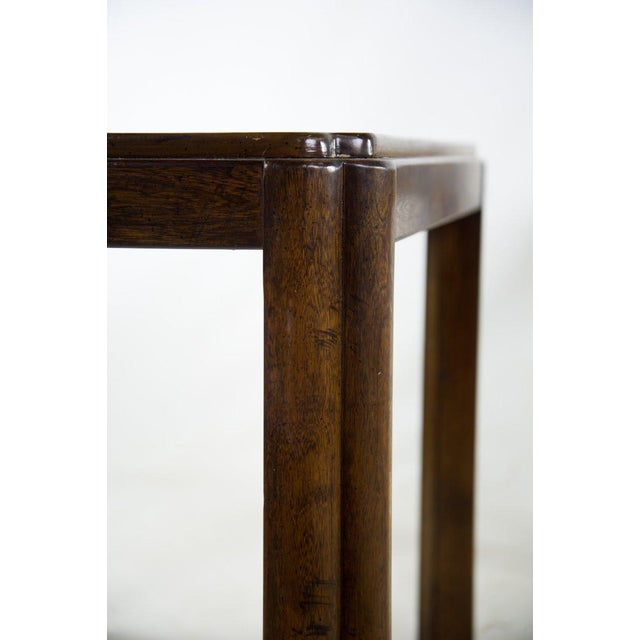 Drexel Campaign Style Burl Wood Side Tables - A Pair For Sale - Image 10 of 13