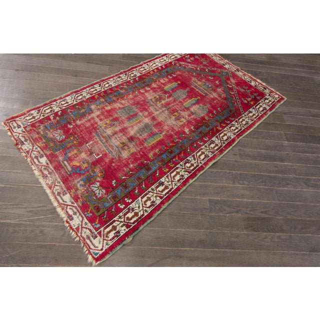 "Apadana Antique Turkish Geometric Rug - 3'1"" X 5'5"" - Image 7 of 7"
