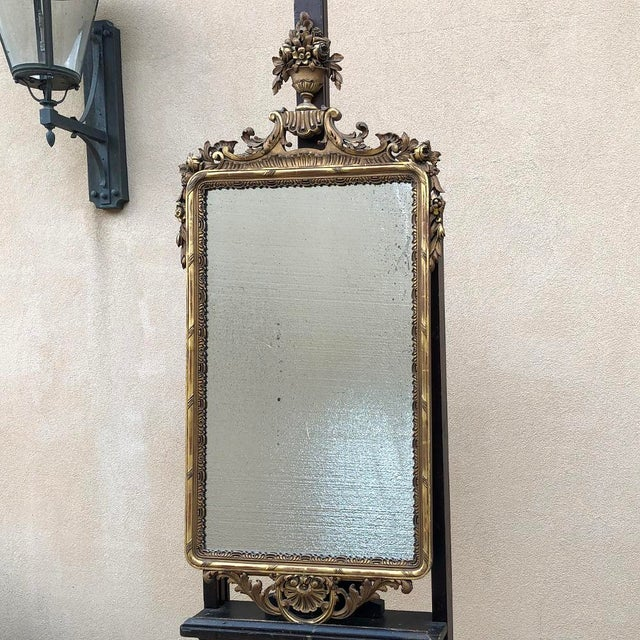 19th Century Italian Carved Giltwood Mirror For Sale - Image 11 of 11