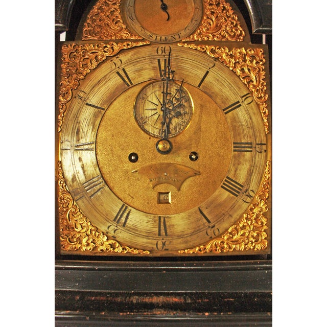 George II Japanned Chinoiserie Longcase Clock by John Crouch, Knightsbridge For Sale In Dallas - Image 6 of 7