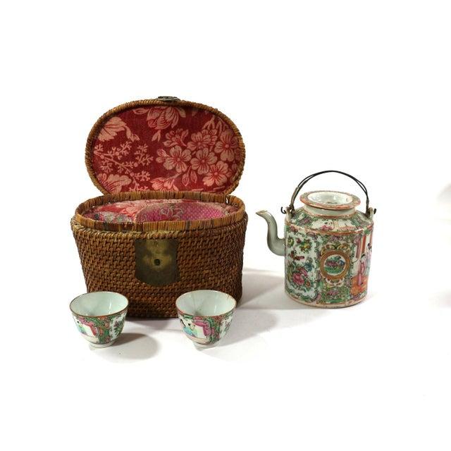 1870s Rose Medallion High Tea Set - Image 5 of 9