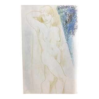 Female Nude Mixed Media by James Bone 1990s For Sale