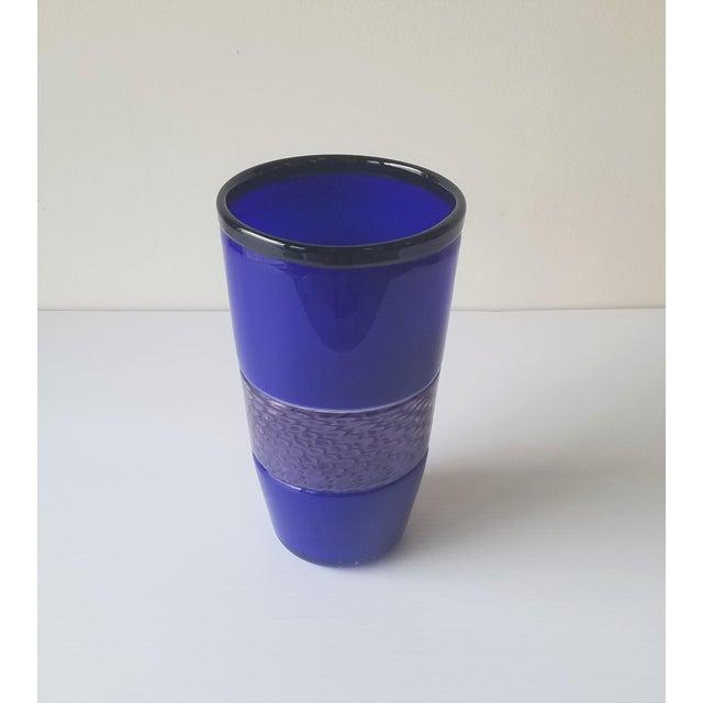 Steve Gibbs Blown Glass Vase for Corning Museum of Glass For Sale - Image 12 of 13
