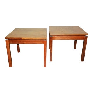 1970s Brazilian Jacaranda Wood Square Side Tables - a Pair For Sale