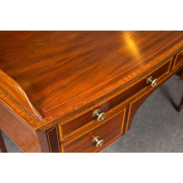 English Traditional 19th C. English Mahogany Inlaid Sideboard For Sale - Image 3 of 10