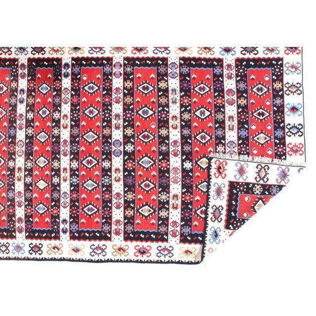 "Islamic Pasargad NY Antique Persian Shiraz Kilim Rug - 4'7"" x 7'4"" For Sale - Image 3 of 5"