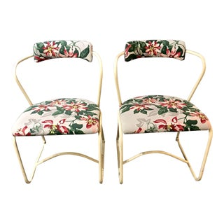 Mid-Century Tubular Chairs- A Pair For Sale