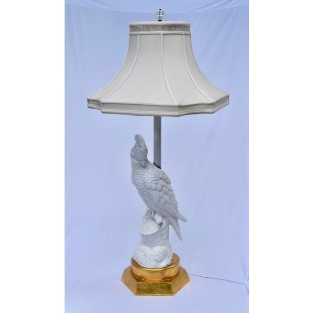Blanc De Chine Cockatoo Table Lamp For Sale - Image 4 of 11