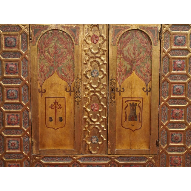 Italian Polychrome Two Door Cabinet For Sale - Image 4 of 11