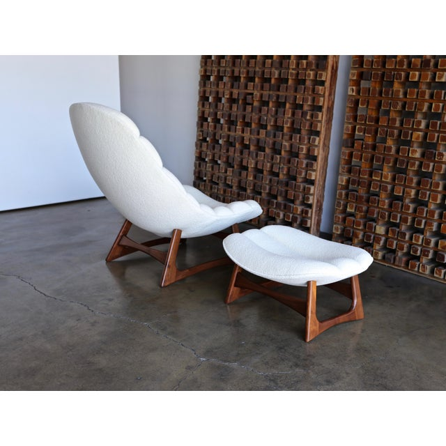 Adrian Pearsall Lounge Chair and Ottoman for Craft Associates Inc., Circa 1960 For Sale - Image 10 of 13