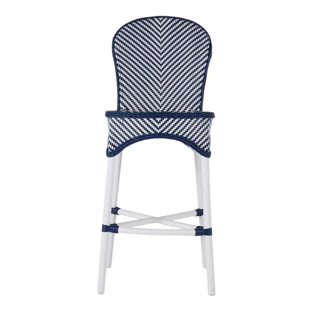 Savoy Bar Stool in Blue For Sale