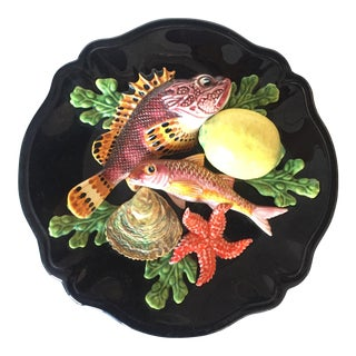 Vallauris 1950's French Majolica Palissy Plate