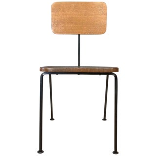 Luther Conover Mahogany & Steel Side Chair For Sale