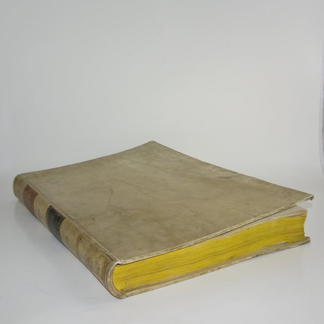 18th Century Traditional Goat SkinVellum Books - Set of 3 For Sale - Image 9 of 11