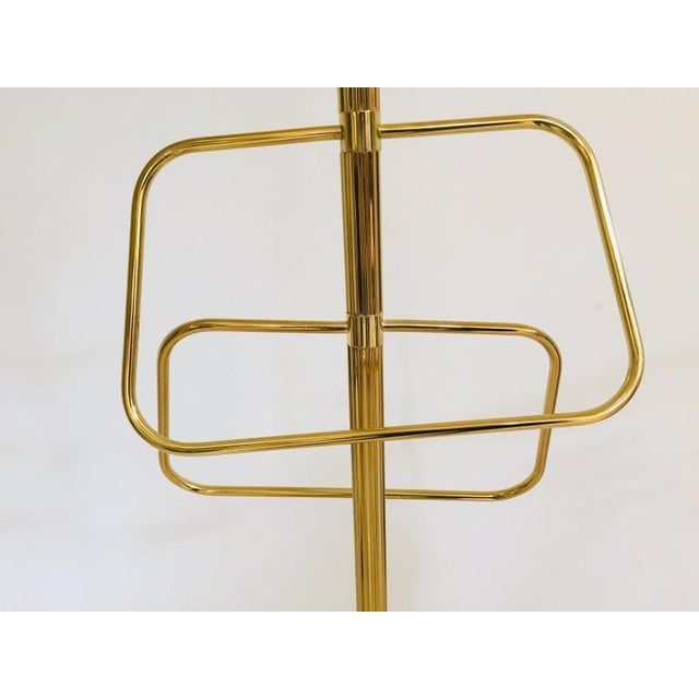 Italian Polished Brass Valet Stand, 1970 For Sale - Image 11 of 13