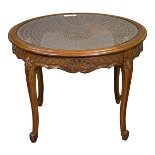 Vintage French Coffee Table with Cabriole Legs
