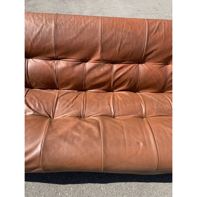 Mid-Century Percival Lafer Brazilian Leather Sofa For Sale - Image 10 of 13