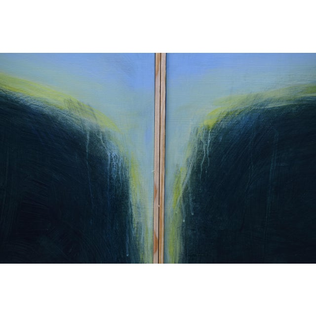 "2000s Modern ""Touch, Summer Morning"" Abstract Diptych by Stephen Remick For Sale - Image 5 of 13"