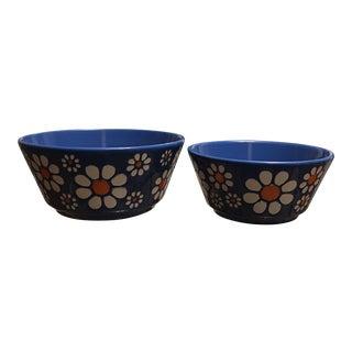 Waechtersbach Germany Pottery Flower Bowls - A Pair