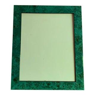 1970s Faux Malachite Photo Frame For Sale