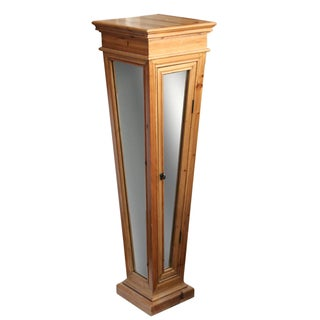 Wooden Mirrored Storage Pedestal For Sale