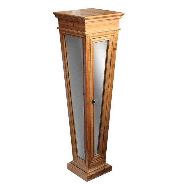 Wooden Mirrored Storage Pedestal - Image 1 of 8