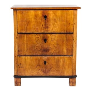 Italian Fruitwood Neoclassical Three-drawer Chest For Sale