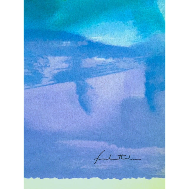"Helen Frankenthaler Rare Lmt Edtn Hand Pulled Original Silkscreen Print "" West Wind "" 1996 For Sale - Image 12 of 13"