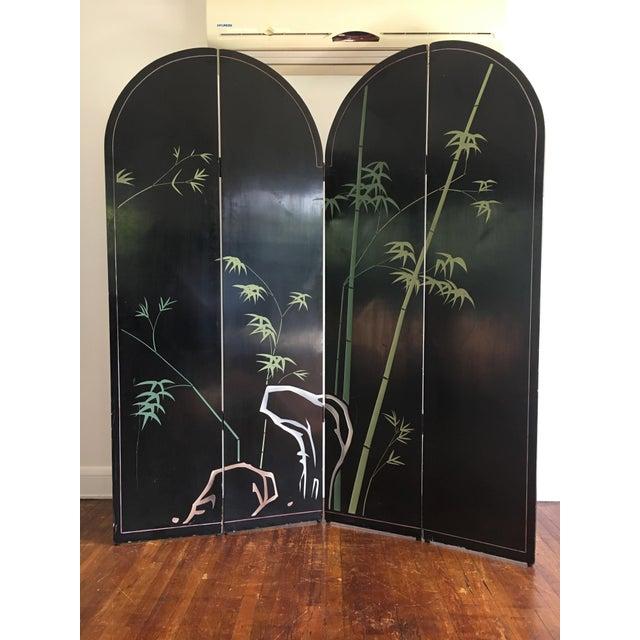 Vintage Japanese Silver Leafed Room Divider For Sale - Image 9 of 12