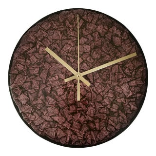 "Faux Stone Finish 9"" Round Wall Clock"