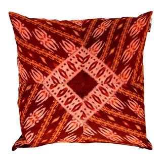Balinese Ikat Pillows in Red & Orange - A Pair