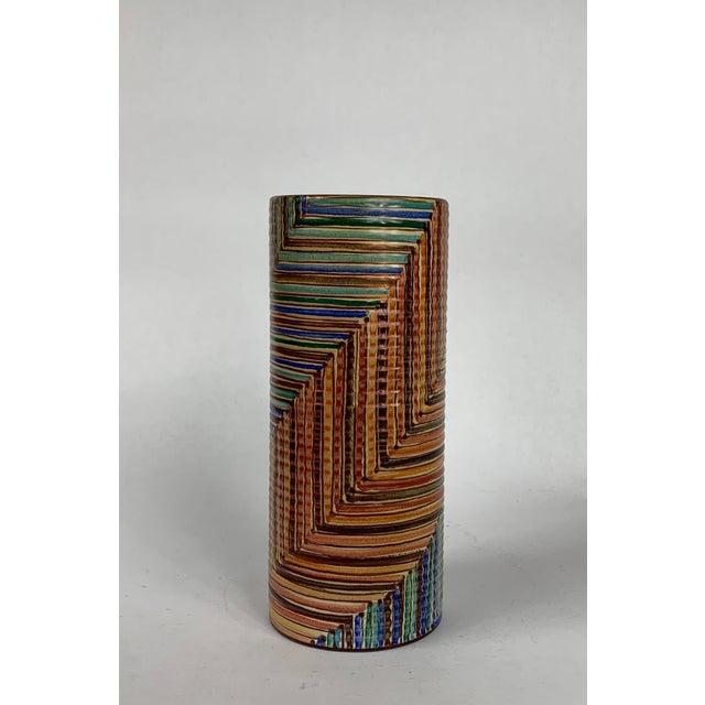 Boho Chic Hand Painted Vignoli Faenza Ceramic Pottery For Sale - Image 3 of 7