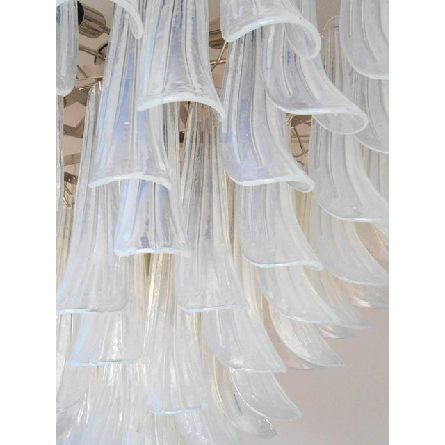 Transparent Selle Chandelier by Mazzega For Sale - Image 8 of 10