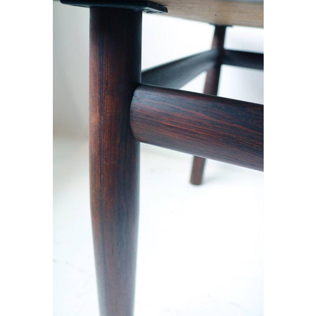 1950s Edward Wormley Rosewood Occasional Table for Dunbar with Murano Glass Tile Top For Sale - Image 5 of 5