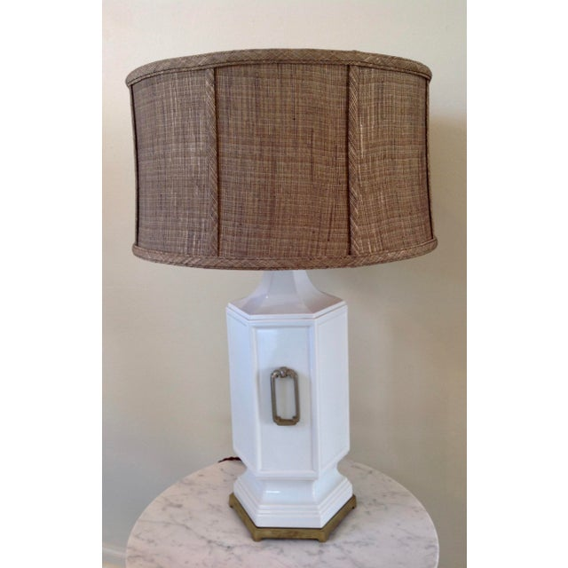 Asian Inspired Mid-Century Table Lamp - Image 2 of 9