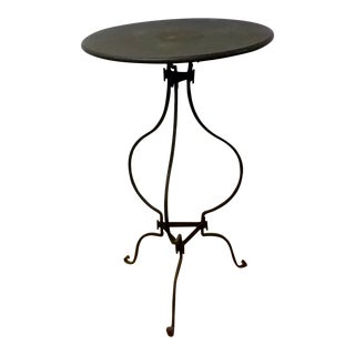 Holly Hock Old Iron Finish High End Table