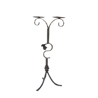 Decorative Metal Bronze Table Top Candle Holder For Sale