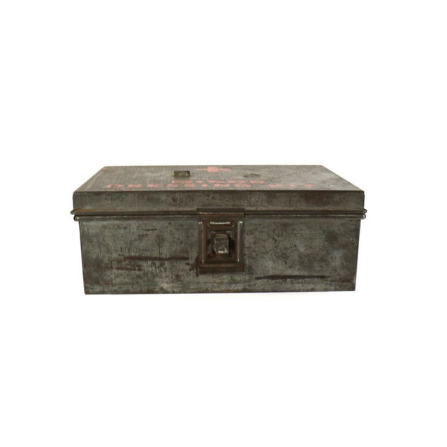 1940s WWII Vintage Metal Storage Box - Image 5 of 5