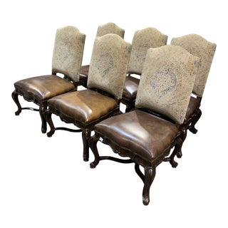 Thomasville Louis XV Style Dining Chairs - Set of 6 For Sale