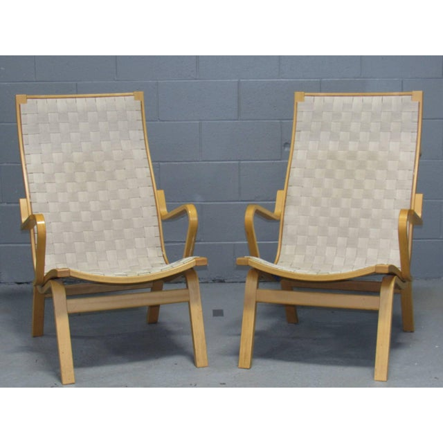 White Beech Armchairs by Finn Østergaard- a Pair For Sale - Image 8 of 8