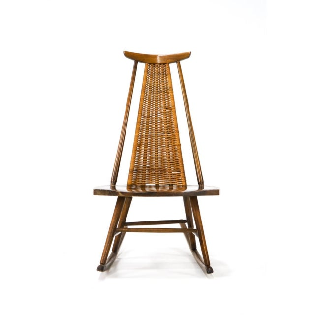 Mid-Century Modern Vintage Arthur Umanoff for Washington Woodcraft Rocking Chair For Sale - Image 3 of 10